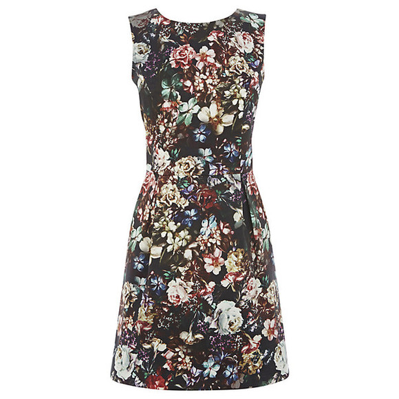 multi dress floral warehouse floral print dress warehouse print dress mini dress