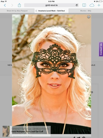 make-up costume eye wear fifty shades of grey lingerie mask sexy halloween accessory