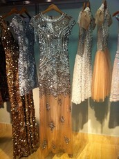 dress,beaded,crystal,tulle skirt,maxi dress,pearl,embellished dress,sequins,long,short,gold,white,beige,cream,brown,nude,silver,sparkle,prom,gown,clothes,all dresses,elegant,prom dress,sequin dress,formal dress,luxury,style,silver dress,silver sequin dress,elegant dress,party dress,short dress,fashion