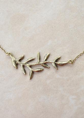 jewels leaf gold necklace gold necklace grecian leaf necklace