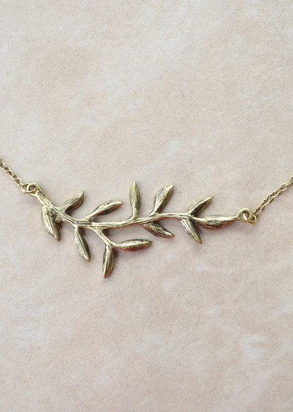leaf gold jewels necklace gold necklace grecian leaf necklace
