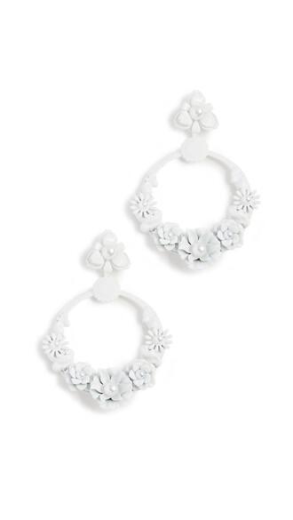 earrings white jewels
