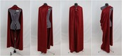 jacket,capes,cape,clothes,dark red cape,dark red,blood red,superheroes,medieval,coat