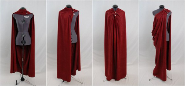 jacket capes cape clothes dark red cape dark red blood red superheroes medieval coat