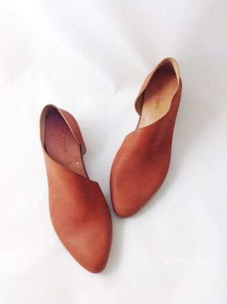 shoes flats leather flats brown shoes summer shoes leather shoes slip on shoes