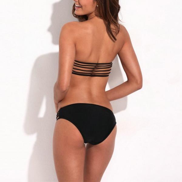 Up bandeau top & stretchy cheeky low waist bottom b
