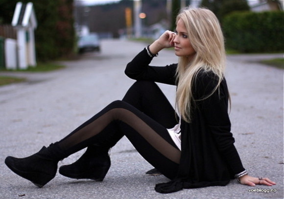 leggings shoes black pretty little liars boots outfit cool shirts sexy high heels jeans punk hardcore still lives amazing black elegant pants black leggings mesh leggings