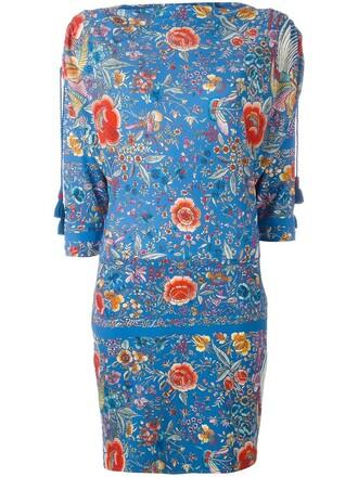 dress floral dress women spandex floral blue
