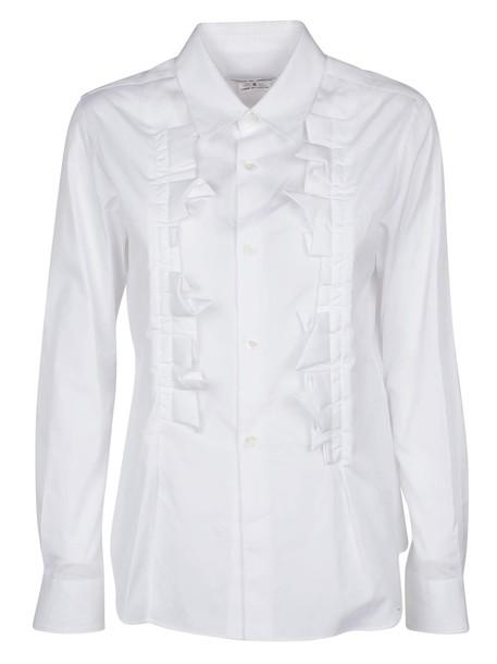 Comme des garcons shirt white top
