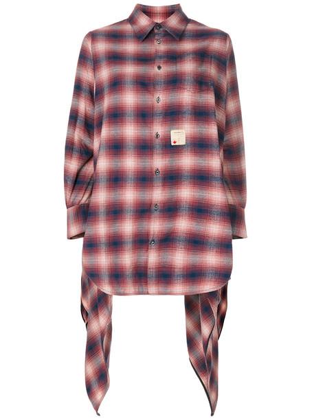 Dsquared2 - faded plaid shirt - women - Cotton - 36, Blue, Cotton