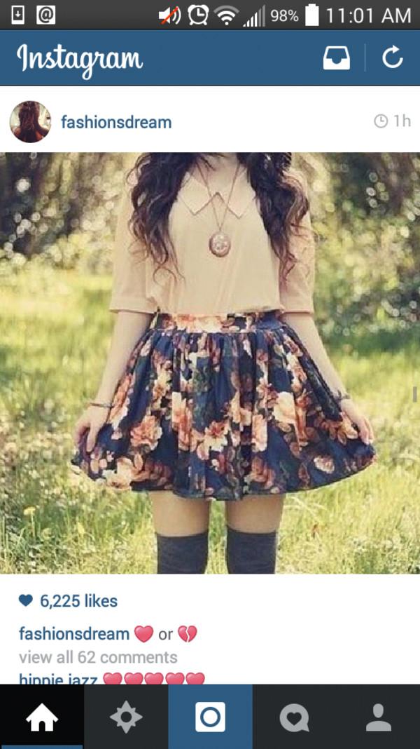 skater skirt floral skirt fall outfits floral skater skirt