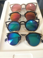sunglasses,cat eye,rose gold,sunnies,mirrored sunglasses,style