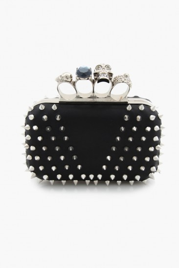 OMG Studded Skull Clutch Bag - Black - BAGS - ACCESSORIES