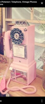 home accessory,pink landline