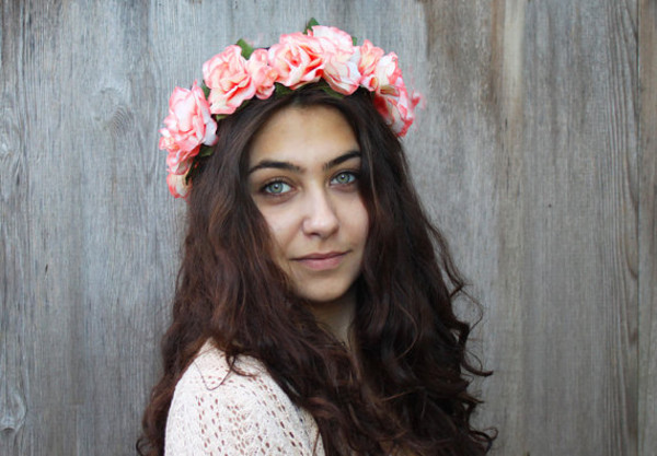 hair accessory crown headband hippie hippie headband rose festival festival style flower crown hair flower girly