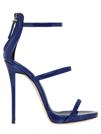 metallic sandals leather sandals leather blue shoes