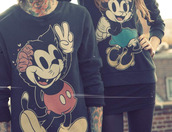shirt,emo,brains,mickey mouse,minnie mouse,drop dead clothing,sweater,sweatshirt,rock,black,grunge,cute,disney