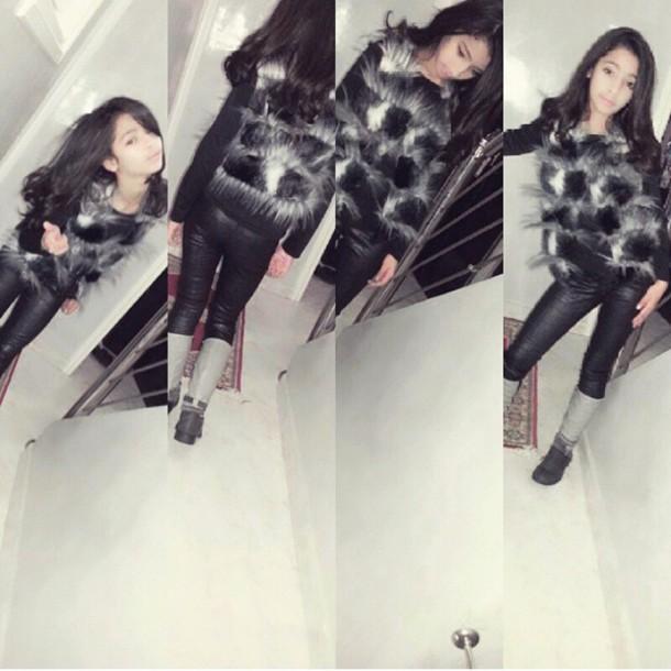 jacket gris et noir style sweater