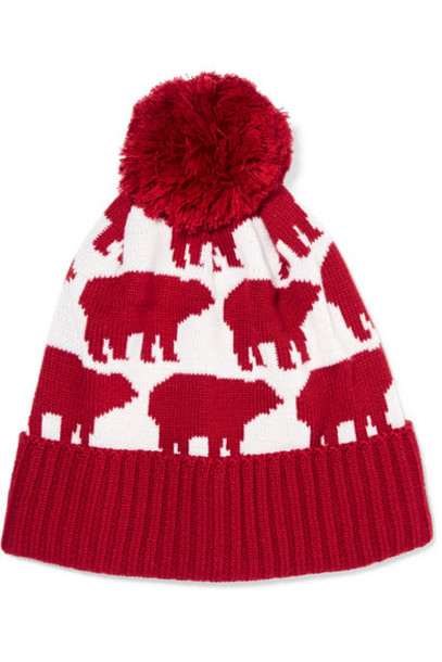 Perfect Moment bear beanie wool hat