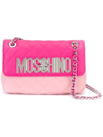 quilted bag shoulder bag purple pink