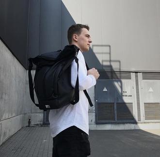 bag learher backpack blackbackpack menswear mensbackpack black style backpack lovers black outfit dope swag backpacks