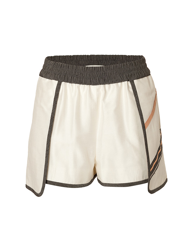 Jonathan Simkhai - Petal Sport Shorts with Leather Trim