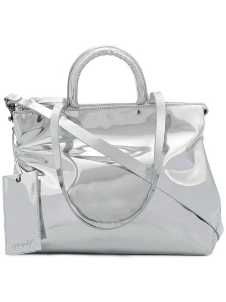 Marsèll women leather grey metallic bag