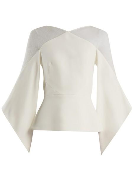 Roland Mouret top lace white