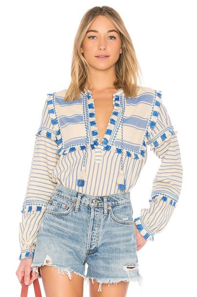 Dodo Bar Or shirt blue top