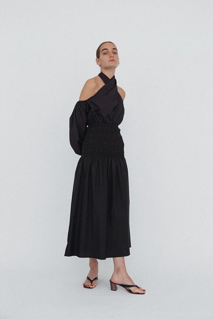 Clio Skirt Black Cotton