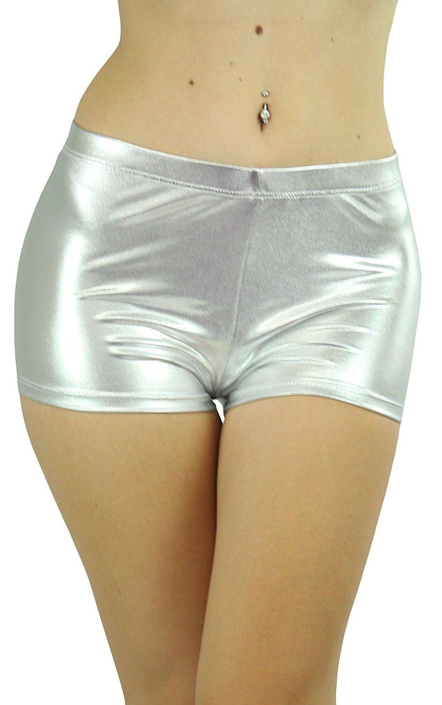Amazon.com: tobeinstyle women's high waist metallic boyshorts