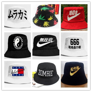 e42151f7f30cf 2015 Casual Flat Bucket Hats New Solid Adult Emoji Bucket Hat Chapeu  Masculino 20 Colors new ...