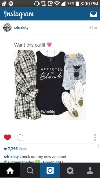 shirt black addicted
