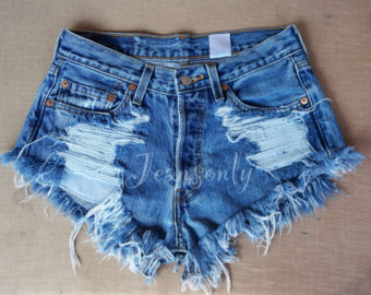 denim shorts Levis high waisted cut off shorts distressed ripped