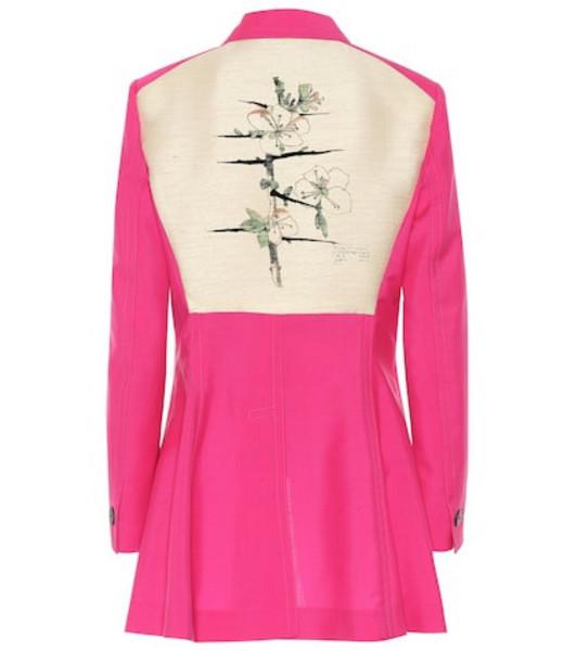 Loewe Botanical wool blazer in pink