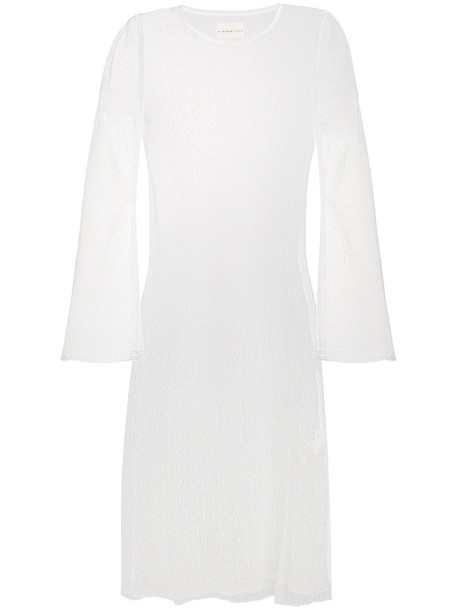 Simon Miller dress midi dress sheer women midi white