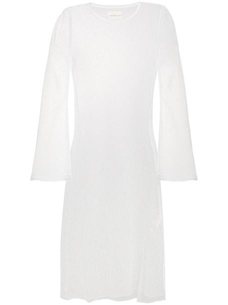 dress midi dress sheer women midi white