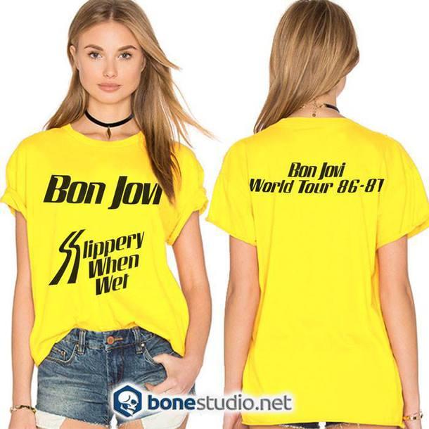 31c19f608d1 t-shirt bon jovi tour graphic tee band t-shirt tees tumblr fashion style