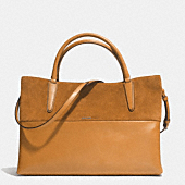 Large soft borough bag in retro glove tan leather and suede