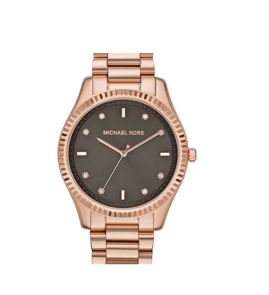 Michael Kors Women's Blake Brown Dial Rose Gold-tone Watch | Emprada