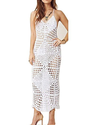 """ambria"" crochet laces cover up maxi dress – glamzelle"