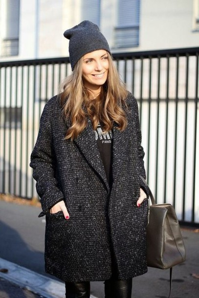 coat streetwear style oversized grey oversized coat