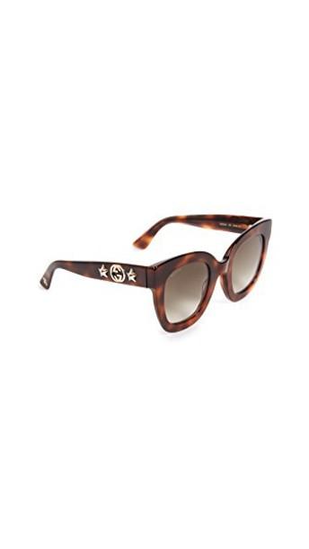 gucci urban sunglasses stars brown