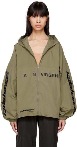 yeezy jacket windbreaker khaki