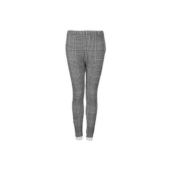 TOPSHOP FLOCKED CHECK POINTE TREGGINGS DOGTOOTH SIZE 12 EU 4... - Polyvore