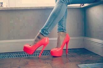 shoes shoe pink love neon pumps heel high heels hat home accessory heels pink heels prom pink shoes party shoes prom shoes prom heels party jeans red red heels baby pink high heels girl nice glamourous faboulous ❤️