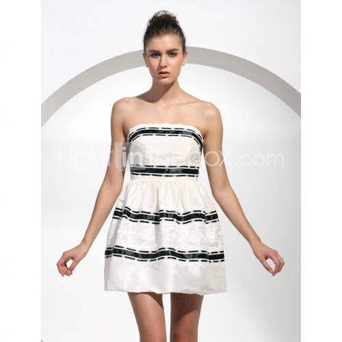 Taffetas robe de bal bustier robe de cocktail courte / mini inspirã© par jenny dans gossip girl