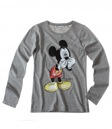 Disney Mickey Women Long Sleeve T-Shirt grey