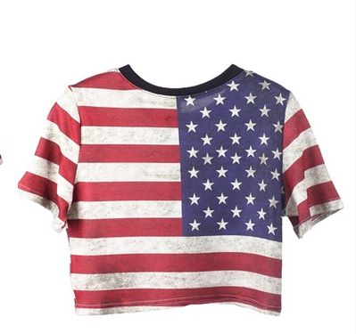 American flag crop top tee #merica · summer · online store powered by storenvy