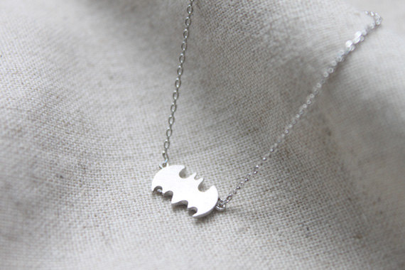 Halloween tiny Batman Necklace  S21911 by Ringostone on Etsy